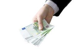 Dinero en manos Fotografía de archivo libre de regalías