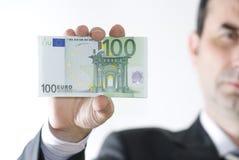 Dinero en manos Imágenes de archivo libres de regalías
