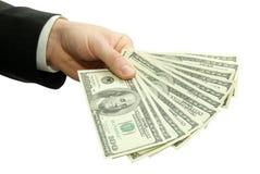 Dinero en manos Fotografía de archivo