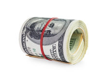 Dinero en rollo Imagenes de archivo