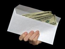 Dinero en sobre Imagen de archivo libre de regalías