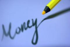 Dinero en sombra Imagenes de archivo