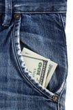 Dinero en su bolsillo Imagenes de archivo