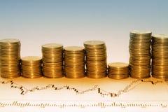 Dinero en tarro Foto de archivo libre de regalías