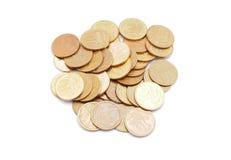 Dinero en un blanco Imágenes de archivo libres de regalías