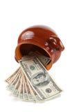 Dinero en un crisol Fotografía de archivo libre de regalías