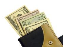 Dinero en un monedero Fotos de archivo