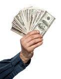 Dinero en una mano imagenes de archivo