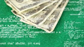 Dinero en una tabla verde almacen de video