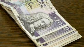 Dinero escocés Fotografía de archivo