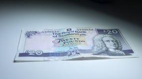 Dinero escocés Imagen de archivo libre de regalías