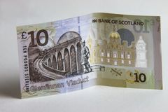 Dinero escocés Billete de banco de diez libras fotos de archivo libres de regalías