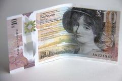 Dinero escocés Billete de banco de diez libras imágenes de archivo libres de regalías