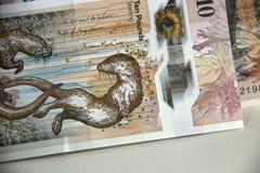 Dinero escocés Billete de banco de diez libras foto de archivo libre de regalías