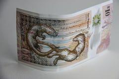 Dinero escocés Billete de banco de diez libras imagenes de archivo