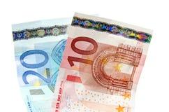 Dinero euro Imagen de archivo