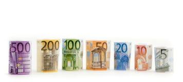 Dinero euro aislado Imagenes de archivo