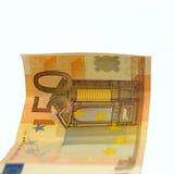 Dinero euro aislado en blanco Foto de archivo