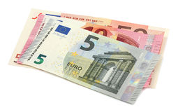 Dinero euro aislado en el fondo blanco Foto de archivo