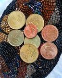 Dinero euro de la moneda Foto de archivo libre de regalías
