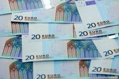 Dinero euro de los billetes de banco Fotografía de archivo libre de regalías