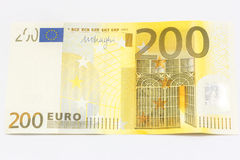 Dinero euro de 200 notas Foto de archivo