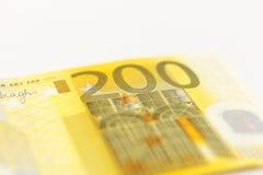 Dinero euro de 200 notas Imagen de archivo
