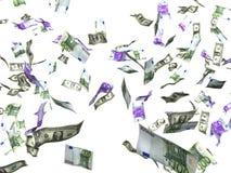 Dinero euro del dólar Fotografía de archivo libre de regalías