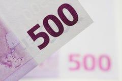 Dinero euro del dinero en circulación Imagen de archivo libre de regalías