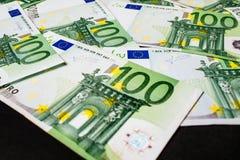 Dinero euro fondo euro del efectivo Billetes de banco euro del dinero Fotos de archivo libres de regalías