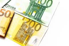 Dinero euro fondo euro del efectivo Billetes de banco euro del dinero Imágenes de archivo libres de regalías