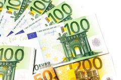 Dinero euro fondo euro del efectivo Billetes de banco euro del dinero Fotografía de archivo libre de regalías
