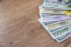 Dinero euro: primer Imagen de archivo libre de regalías
