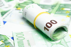 Dinero europeo detalladamente Imagen de archivo libre de regalías