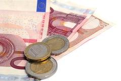 Dinero/euros Imágenes de archivo libres de regalías