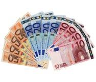Dinero: Euros Fotos de archivo