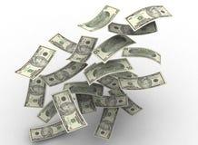 Dinero flotante Fotos de archivo libres de regalías