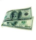 Dinero flotante Imágenes de archivo libres de regalías