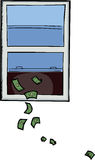 Dinero hacia fuera la ventana Imagen de archivo