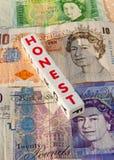 Dinero honesto Imagen de archivo
