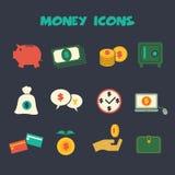 Dinero icons3 Imagen de archivo libre de regalías