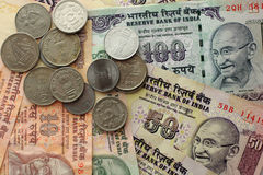 Dinero indio foto de archivo