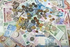 Dinero internacional Fotografía de archivo libre de regalías