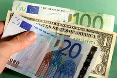 Dinero internacional Foto de archivo