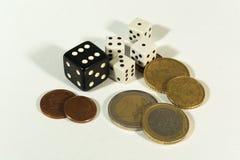 Dinero invertido en concepto de juego Fotografía de archivo libre de regalías