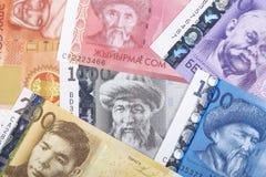 Dinero kirguizio, un fondo imágenes de archivo libres de regalías