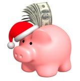 Dinero a la Navidad Fotos de archivo