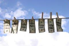 Dinero lavado planchado Fotografía de archivo