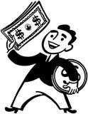 Dinero Man Imágenes de archivo libres de regalías