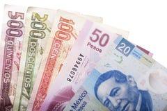 Dinero mexicano imagen de archivo